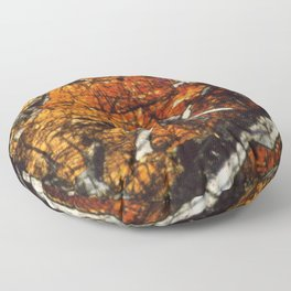 Pyroxene Crystals Floor Pillow