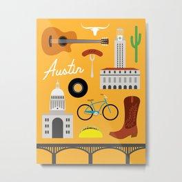 Austin Art Print Metal Print