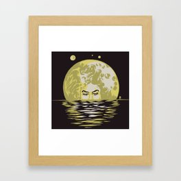 Miss Moonlight Framed Art Print