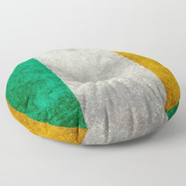 Flag of Ireland, Vintage retro style Floor Pillow