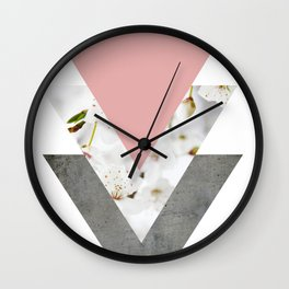 Blossoms Arrows Collage Wall Clock