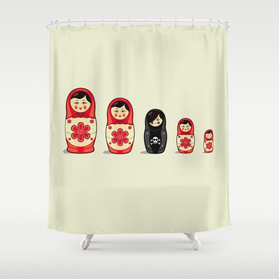 The Black Sheep Shower Curtain