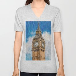 Big Ben of London Unisex V-Neck