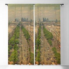 Avenue De Champs Elysees in Paris Blackout Curtain