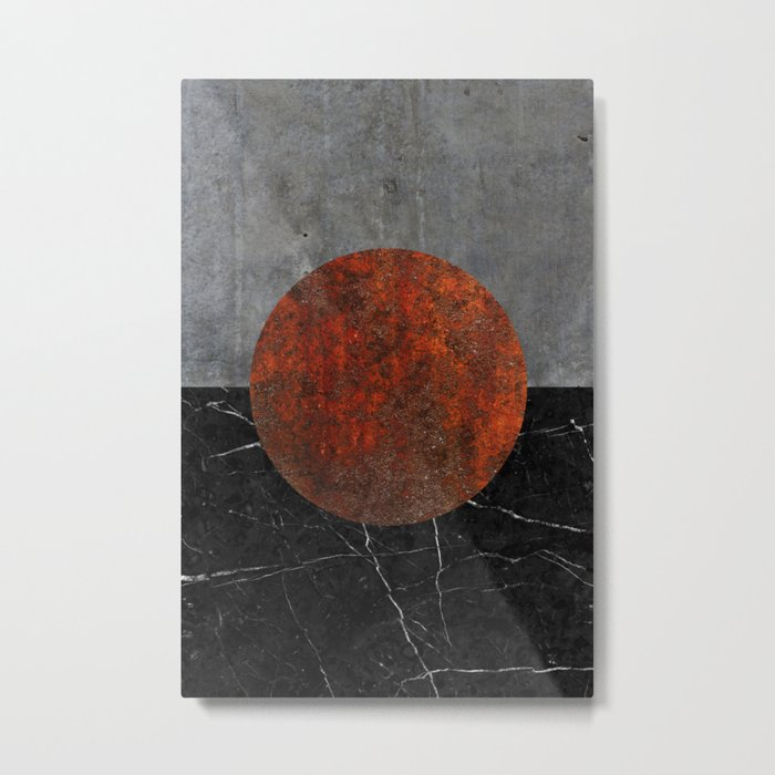 Abstract - Marble, Concrete, and Rusted Iron II Metal Print