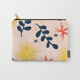 bold floral retro print Carry-All Pouch