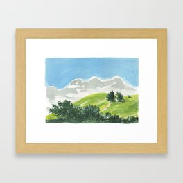 Waimea Hillside Framed Art Print