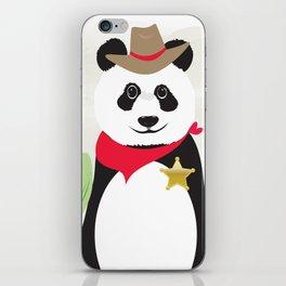 Panda Bear Sheriff iPhone Skin
