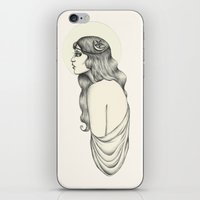 luna iPhone & iPod Skins featuring Luna by Caitlin McCarthy