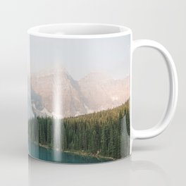Pastel Sunrise over Moraine Lake Coffee Mug
