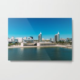 Parque das Nacoes (Park of Nations) in Lisbon, Wall Art Print, Modern Architecture Art, Skyline Metal Print