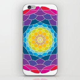 floral ornament. circular pattern iPhone Skin