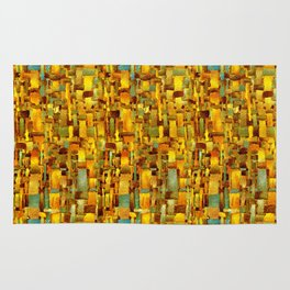 Gold and bronze Rug