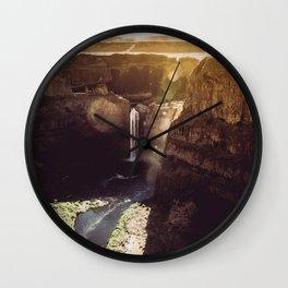 Desert Waterfall Wall Clock
