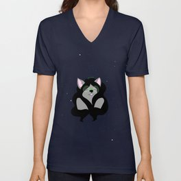 woof woof space woof Unisex V-Neck