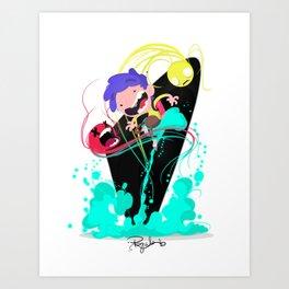 Tje Jet Pack Art Print