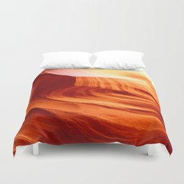 Bright Antelope Canyon Colors Duvet Cover