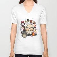 hayao miyazaki V-neck T-shirts featuring Ghibli, Hayao Miyazaki and friends by KickPunch