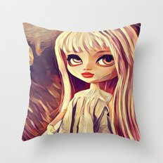 Pink Girl Throw Pillow