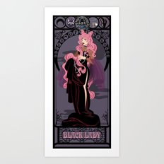 Black Lady Nouveau - Sailor Moon Art Print
