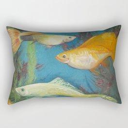 Smirking Guppies Rectangular Pillow
