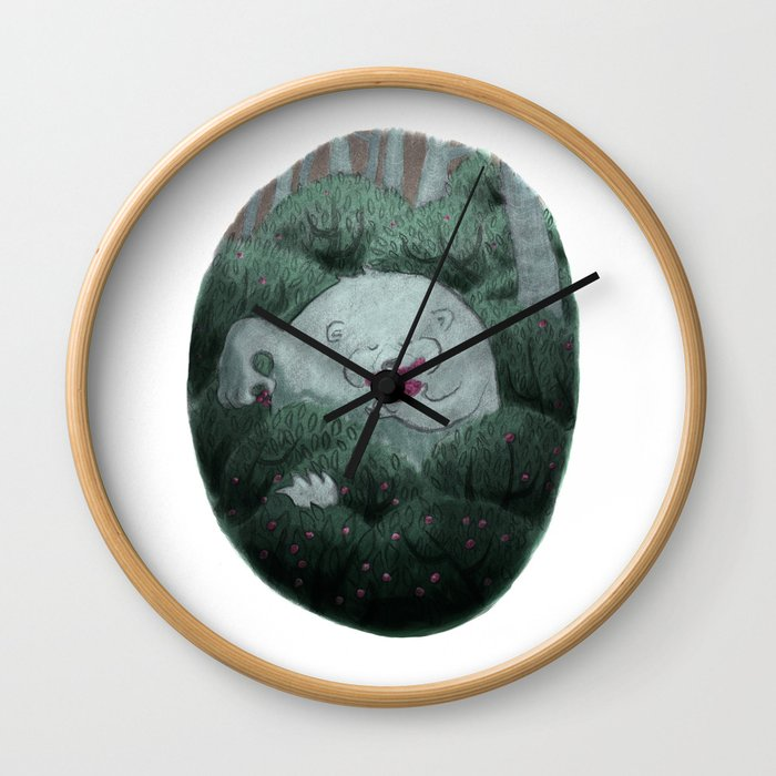 Bear and Berries Wall Clock