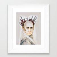thranduil Framed Art Prints featuring Thranduil by Olivia Nicholls-Bates
