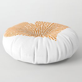 Turing Pattern Sunburst Love Heart (Orange) Floor Pillow
