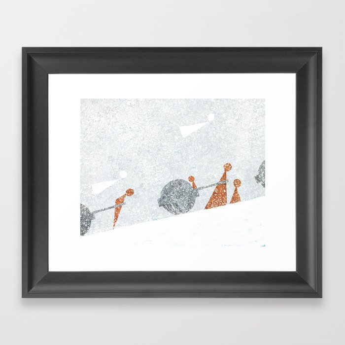 Shoulder to the Wheel II Framed Art Print