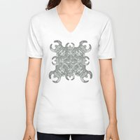 demon V-neck T-shirts featuring Demon by Sandeep Barot