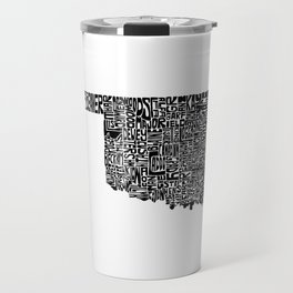 Typographic Oklahoma Travel Mug