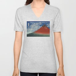 South Wind, Clear Sky (Gaifū kaisei or 凱風快晴) Unisex V-Neck