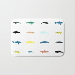 sea creature pattern Bath Mat