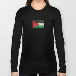 Vintage Aged and Scratched Palestinian Flag Long Sleeve T-shirt