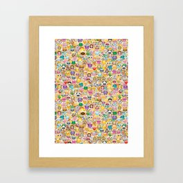 Emoticon pattern Framed Art Print