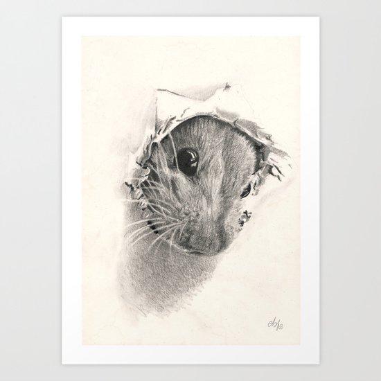 Pickaboo! Art Print