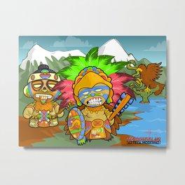 Tenochtitlan - Azteca Moderno  Metal Print