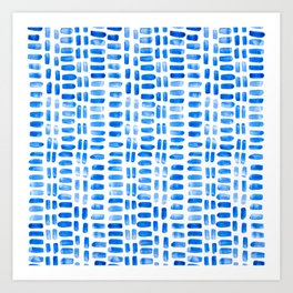 Abstract rectangles - blue Art Print