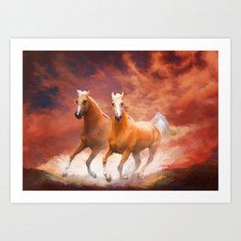Red Sky Run Art Print