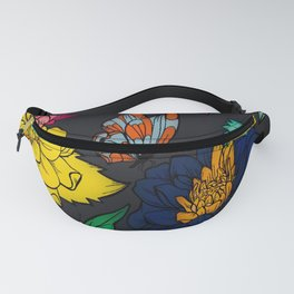 Fun with Coloring Floral Print 5 Fanny Pack