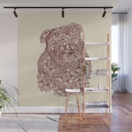 MANDALA OF ENGLISH BULLDOG Wall Mural