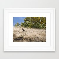 hunting Framed Art Prints featuring Hunting by Bryan Simons