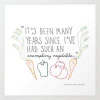 An Exemplary Vegetable Art Print