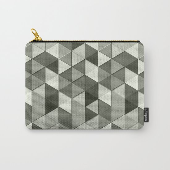 Cool Grayscale triangles geometric pattern Carry-All Pouch