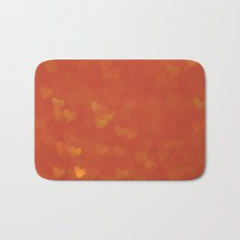 Red abstract background with bokeh defocused lights Bath Mat