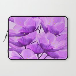 Violet Anemones Spring Atmosphere #decor #society6 #buyart Laptop Sleeve