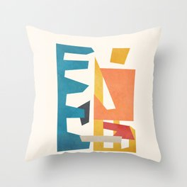 Abstract Stacked Geometry 1 Throw Pillow