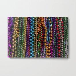 Mardi gras beads Metal Print
