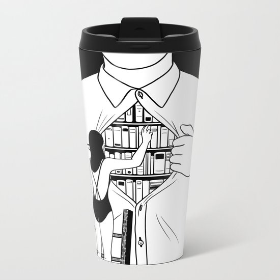 Read all about you Metal Travel Mug