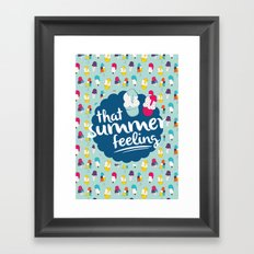 That summer feeling - Blue Framed Art Print